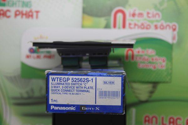 Bộ 2 công tắc có đèn báo WTEGP52562S - 1 - G Panasonic màu bạc