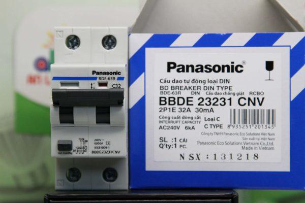 8 loại RCBO 2 pha Panasonic loại C bảo vệ quá tải