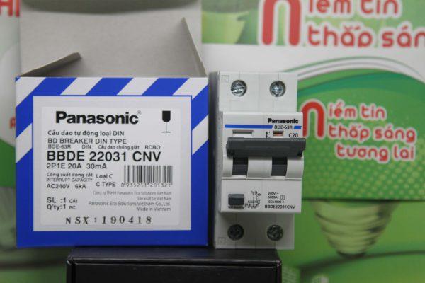 RCBO 2 pha Panasonic bảo vệ quá tải