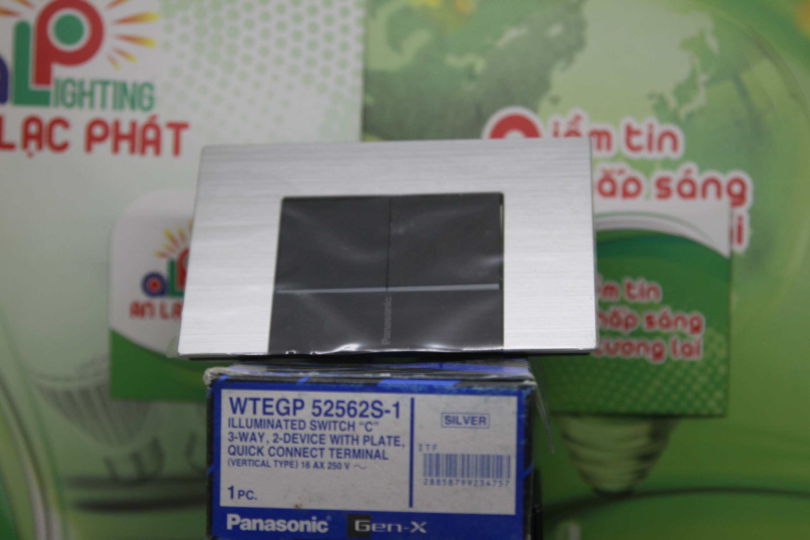 Bộ 2 công tắc có đèn báo WTEGP52562S - 1 - G Panasonic