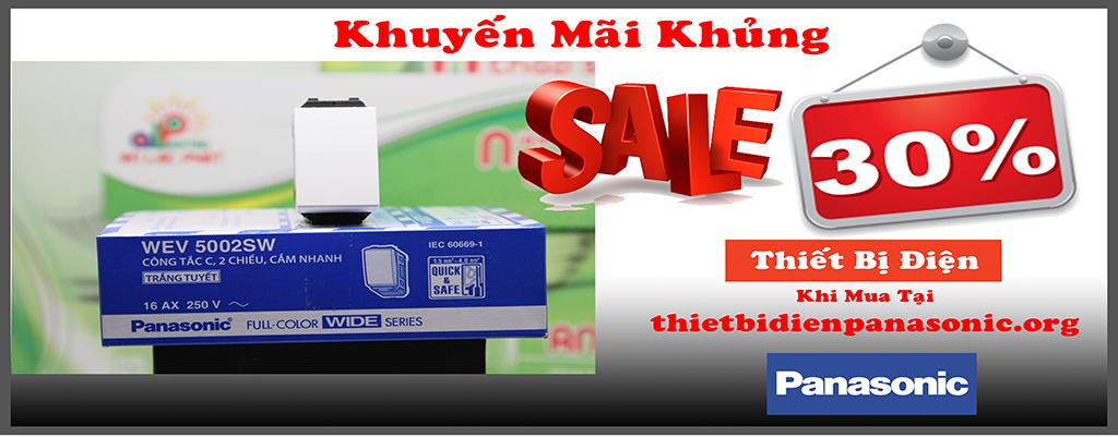 khuyến mãi 30% khi mua thiết bị điện panasonic tại thietbidienpanasonic.org