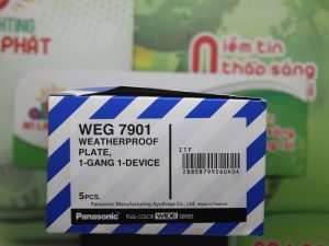 Mặt 1 thiết bị có nắp che mưa Panasonic WEG7901