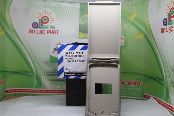 Mặt 1 thiết bị có nắp che mưa WEG7901 bảo vệ thiết bị điện tối ưu