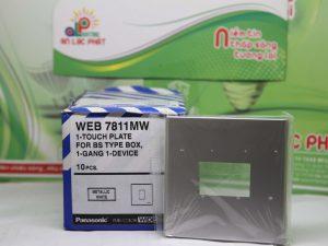 Mặt vuông dành cho 1 thiết bị màu xám Panasonic WEB7811MW