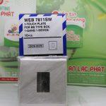 Mặt vuông dành cho 1 thiết bị Panasonic WEB7811SW độc đáo