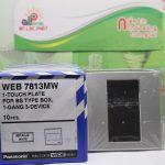 Mặt vuông dành cho 2 thiết bị màu xám WEB7812MW Panasonic
