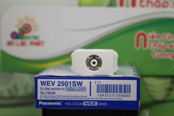 Ổ cắm anten tivi Panasonic WEV2501SW màu trắng tuyết