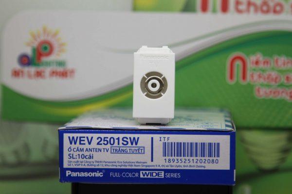 Ổ cắm anten Tivi Panasonic WEV2501SW thiết kế độc đáo