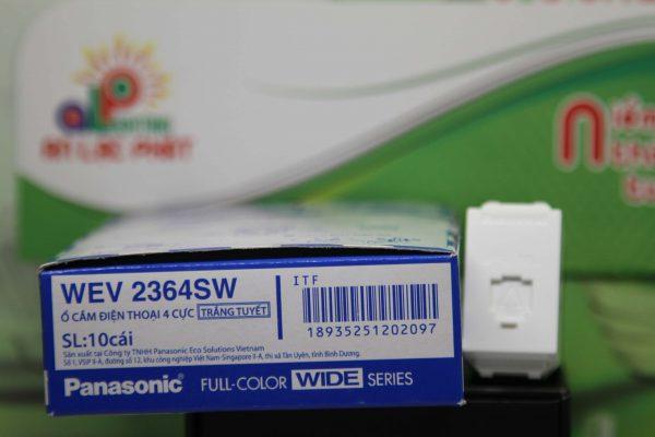 Ổ cắm điện thoại 4 cực Panasonic WEV2364SW thiết kế tinh tế