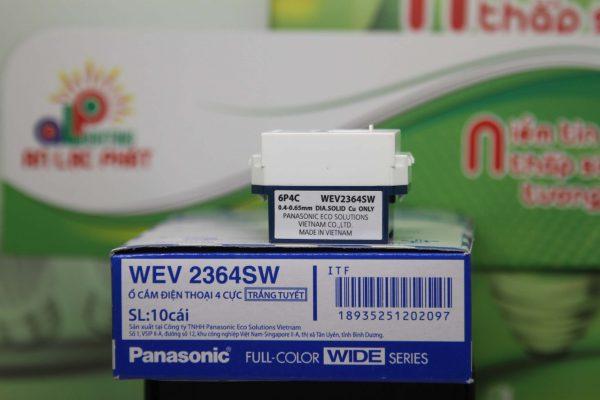 Ổ cắm điện thoại 4 cực Panasonic WEV2364SW