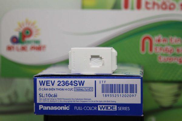 Ổ cắm điện thoại 4 cực Panasonic WEV2364SW tinh tế