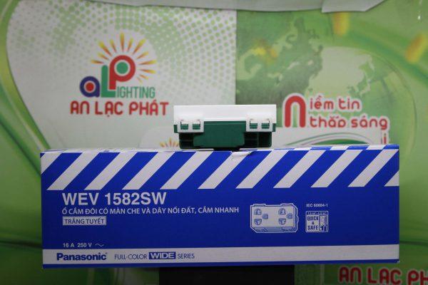 ổ cắm đôi có màn che WEV1582SW - WEV1582-7SW Panasonic