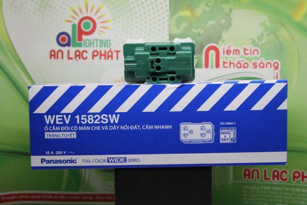 ổ cắm đôi có màn che Panasonic WEV1582SW - WEV1582-7SW