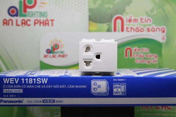 Ổ cắm đơn có màn che WEV1181SW/WEV1181-7SW Panasonic