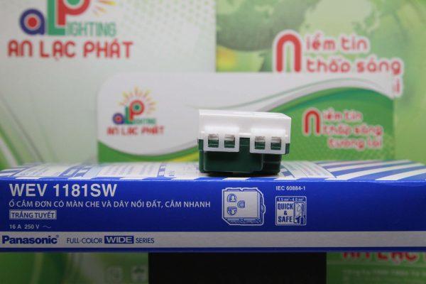 Ổ cắm đơn có màn che WEV1181SW-WEV11817SW Panasonic