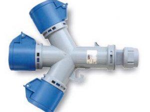 3 loại ổ cắm chia 3 ngã loại không kín nước Panasonic F9432006 IP44