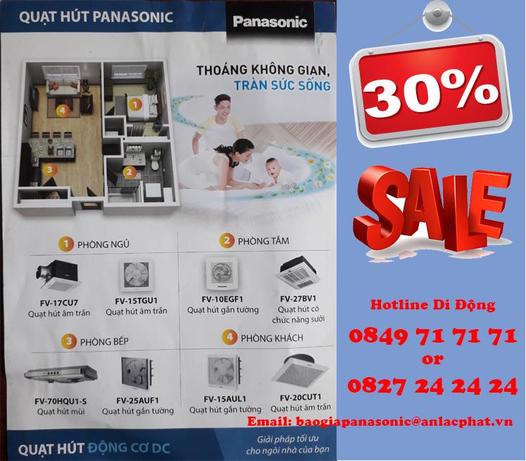 Quạt Hút Panasonic phù hợp với từng nhu cầu của khách hàng