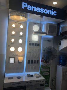 Thiết bị điện dân dụng được trưng bày tại đại lý Panasonic An Lạc Phát