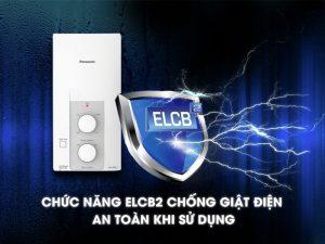 Máy nước nóng Panasonic có ELCB chống giật