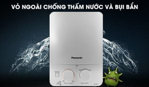 Vỏ ngoài chống thấm nước và bụi bẩn của máy nước nóng Panasonic